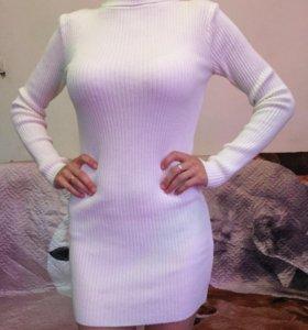 Платье туника тёплое с высоким горлом новое