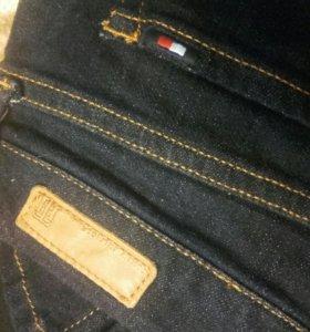 Джинсовая юбка с пуговицами тёмно-синего цвета