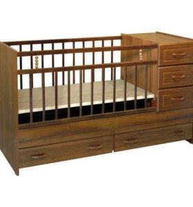 Детская кроватка-трансформер, матрас
