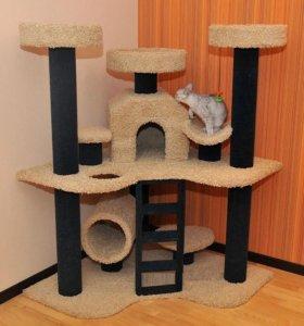 Игровой комплекс, домик Когтеточка для кошек