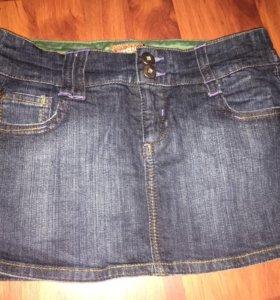 Короткая джинсовая юбка Bershka