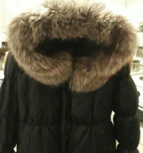 Пуховик-куртка кожаная