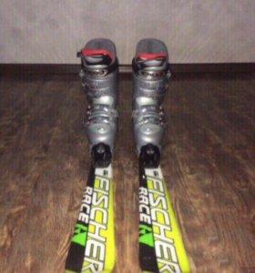 Детские горные лыжи с ботинками
