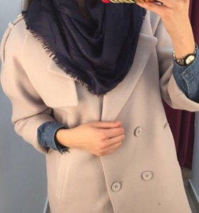 Комплект пальто/шапка/шарф 44/48 идеал