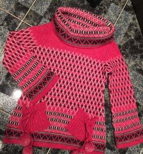 Новая свитера ( туника,толстовка ) шерсть
