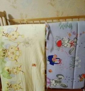 Бортики и белье в кроватку