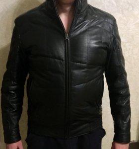 Куртка (бомбер) кожаная