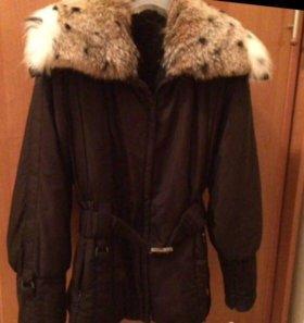 Куртка с подстёжкой из натурально меха