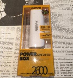 Новый внешний аккумулятор Remax 2600 mAx