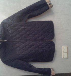 куртка-пиджак женская темно-синего цвета