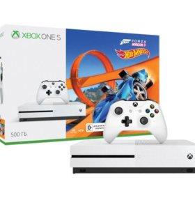 Новая приставка Xbox One S + Horizon 3+DLC