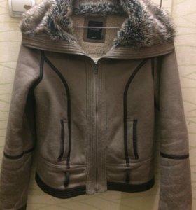 Зимняя  меховая куртка-дубленка
