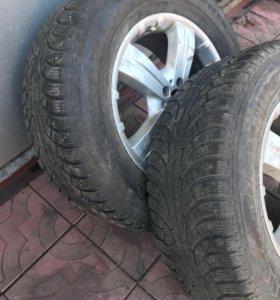 275/60 R18 зимняя резина шипы+диски