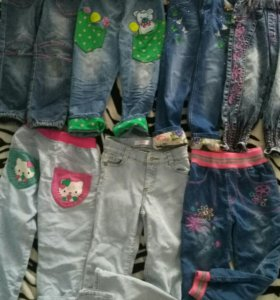 Джинсы , брюки девочке