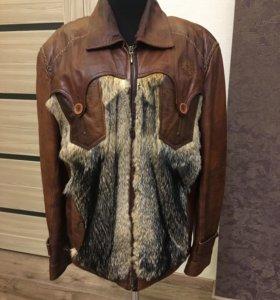 Куртка мужская из натуральной кожи с мехом