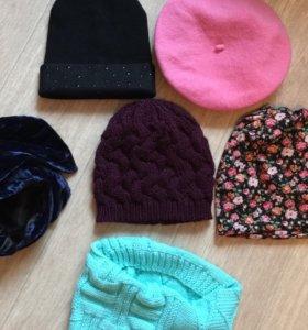 Новые шапочки и снуд