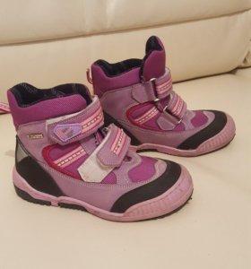 Minimen демисезонные ботинки для девочки, б/у.