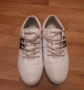 Спортивные белые кеды кроссовки, р.43-44