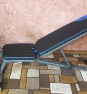 Атлетическа скамья+штанга с гантелями 50кг