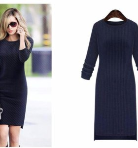 Платье-свитер лапша. Размер 46