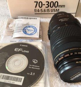 Canon EF 70-300 IS USM + бленда и UV-фильтр