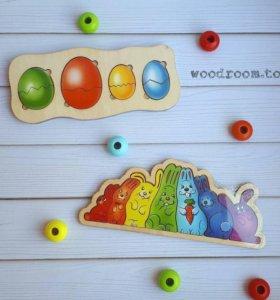 Деревянные игрушки вкладыши