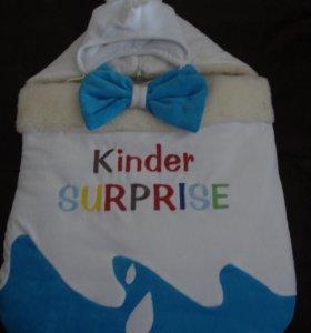 Зимний конверт Киндер сюрприз