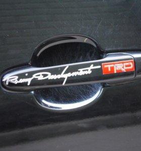 Наклейка на ручки дверей авто