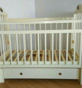 Кроватка Briciola 10 и матрас Plitex