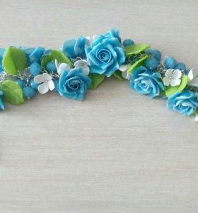 Шикарный браслет ,Розы!