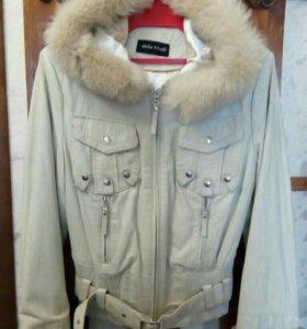Куртка женская, кожаная