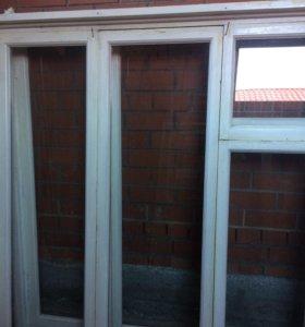 Окна деревянные с подоконниками 3 шт