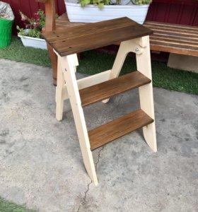 Стремянка лестница деревянная