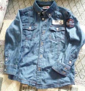 Детская джинсовая рубашка