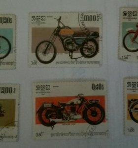 Набор марок мотоциклы (Кампучия)