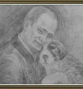 рисую портреты в течение недели