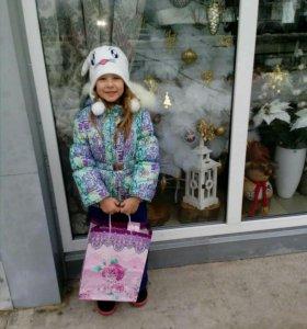 Зимняя куртка на девочку 104