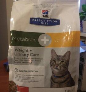 Сухой+влажный корм Hill's Diet Metabolic Urinary