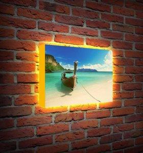 Светильник - лайтбокс - картина