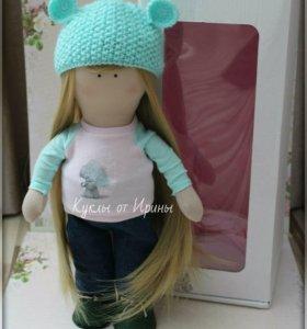 Текстильная кукла большеножка