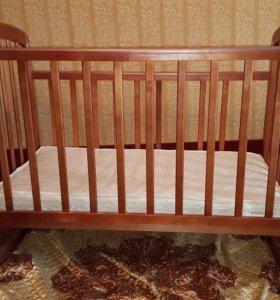 Детская кровать матрасик бортики