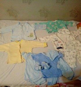 Кофточки и комплекты на новорожденого