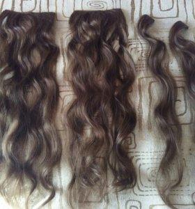 Локоны волосы на заколках