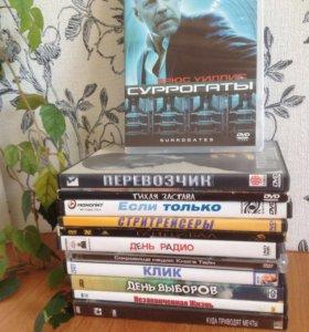 Диски DVD с фильмами-12 шт