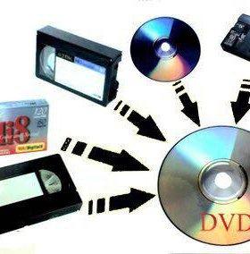 Запись с видеокассет на флешку +DVD 1 минута