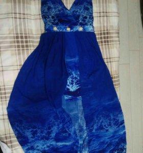 Платье 3Д Синее размер М