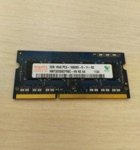 Оперативная память Hynix DDR3 SO-DIMM PC-10600 2GB