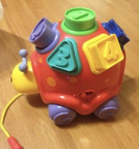 Игрушка каталка умная черепаха