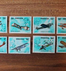 Руанда.1978. Самолеты. Авиация