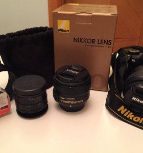 Зеркальный фотоаппарат Nikon 3100 и объективы
